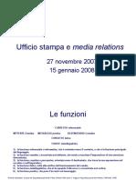 Ufficio stampa e media relations (bozza)