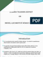 Summer Training Diesel Locomotive Works Ppt