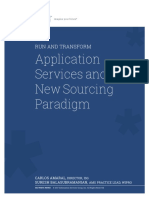 Run and Transform Application Services and the New Sourcing Paradigm