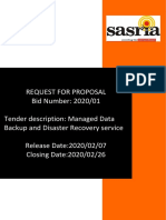 Disaster Recovery_Bid Document_07 February 2020