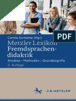 Metzler - Lexikon Fremdsprachendidaktik