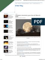Calendario Astronómico para el mes de Marzo de 2020 - El Universo Hoy