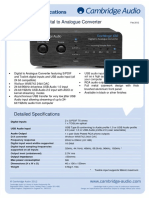 DacMagic 100 Technical Specifications