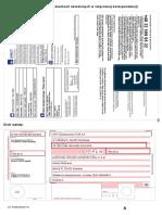Certyfikat OC i druk wpłaty
