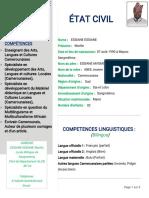 Curriculum Vitæ (CV) de Marilin ESSIANE
