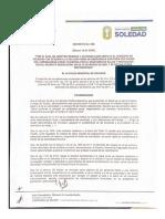 Soledad decreta medidas especiales para prevención del Covid-19