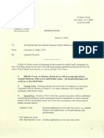New York Unified Court System protocol during Covid-19 outbreak, March 15, 2020