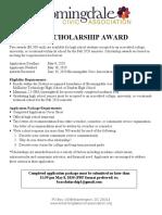 2020 Bloomingdale Civic Association Scholarship Flyer_FINAL_Word
