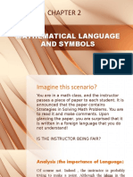 2 MATHEMATICAL LANGUAGE AND SYMBOLS