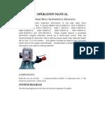 Manual of High Head Generator