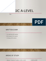 Study Guide for A-Level Music (AQA Specification)