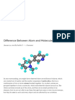 Difference Between Atom and Molecule (with Comparison Chart) - Key Differences