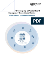 Handbook for Developing a Public Health Emergency Operations Centre Part A