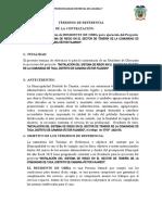 TDR RESIDENTE DE OBRA  DE  RESIDENTE DE OBRA CERCO PERIMETRICO GONZALES PRADA