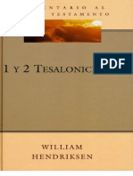 Comentario Al Nuevo Test Amen To - 1 y 2 Tesalonicenses - William Hendriksen