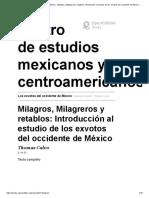 Los exvotos del occidente de México.
