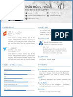 Download template resume Simple Word CV