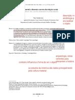 1. CULTURA MATERIAL - A DIMENSÃO CONCRETA DAS RELAÇÕES SOCIAIS