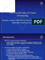 5 Secrets of Project Scheduling