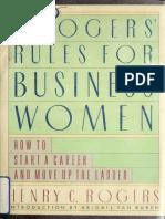 Rogers Rules for Businesswomen