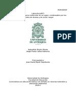 DETERMINACION DEL PESO MOLECULAR DE UN VAPOR CONDENSABLE POR LOS METODOS DE DUMAS Y DE VICTOR MEYER