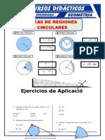 Áreas de Regiones Circulares Para Cuarto de Secundaria