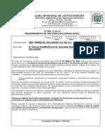 Requerimiento de declaración Jurada ENTREGADOS A SBA Y CME