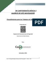 85_CURSO CARTOGRAFÍA DIGITAL Y MANEJO DE GPS - PROCEDIMIENTOS PARA LOS TRABAJOS DE GABINETE I Y II