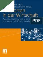 Sascha Demarmels, Wolfgang Kesselheim - Textsorten in der Wirtschaft_ Zwischen textlinguistischem Wissen und wirtschaftlichem Handeln  -VS Verlag für Sozialwissenschaften (2011)
