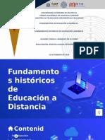 Fundamentos Históricos de Educación a Distancia