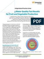 interpreting water quality test results