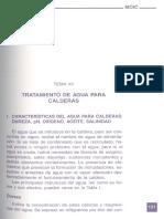 TRATAMIENTO AGUA CALDERAS