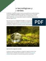 Empresas tecnologicas y negocios verdes