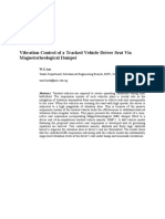 Vibration Control of a Tracked Vehicle Driver Seat Via Magnetorheological Damper-Abstract