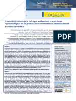 Articulo microbiologia del agua y enfermedades