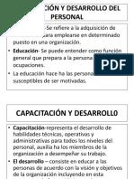 Capacitación y desarrollo Tema III