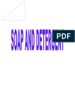 Soap and Detergent Form 5