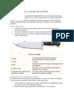 Cortes de cocina y manejo de cuchillos
