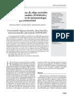 Consumo de mono, di, oligo sacáridos y polioles fermentables (FODMAPs), una nueva fuente de sintomatología gastrointestinal