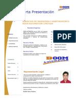 Carta presentacion BOOM AUTOMATION LTDA