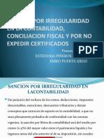 SANCION POR IRREGULARIDAD EN LA CONTABILIDAD, (1)