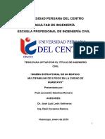DISEÑO ESTRUCTURAL DE UN EDIFICIO MULTIFAMILIAR DE 8 PÍSOS EN LA CIUDAD DE HUANCAYO