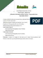 Ficha de Apoio Módulo A10 Programação Linear