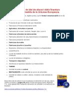 Peste 520 de Idei de Afaceri Obtin Finantare