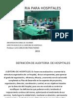 AUDITORIA DE UN HOSPITAL