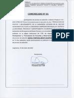 COMUNICADO LP Nª 001 2020 AFSM-SE-PC