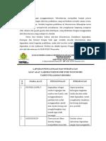 laporan perawatan dan nggunaan alat
