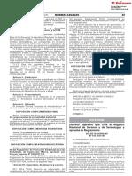 2019 DS 012-2019-IN Crea el Registro Nacional de Serenos y Serenazgos y Aprueba Reglamento