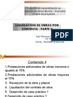Liquidación obras por contrata Parte II