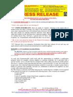 20200317-PRESS RELEASE Mr G. H. Schorel-Hlavka O.W.B. ISSUE – Re Corona Virus Missing Supply Link, Etc